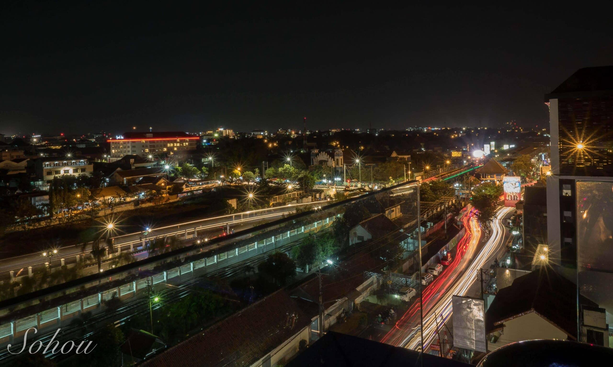 ジョグジャカルタの夜景
