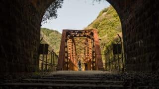 武庫川渓谷のトンネル