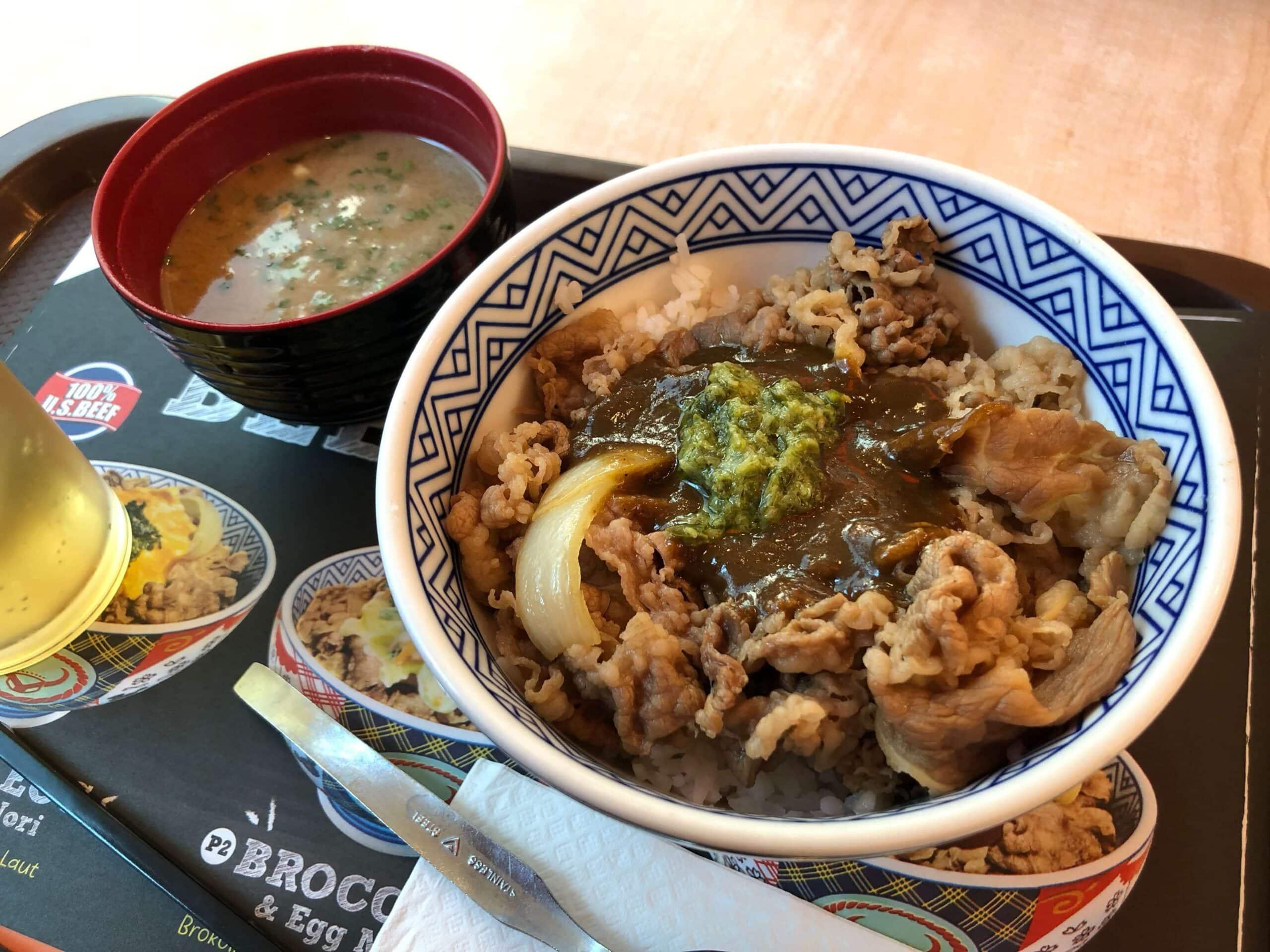 インドネシア・吉野家のルンダン牛丼を食べました!