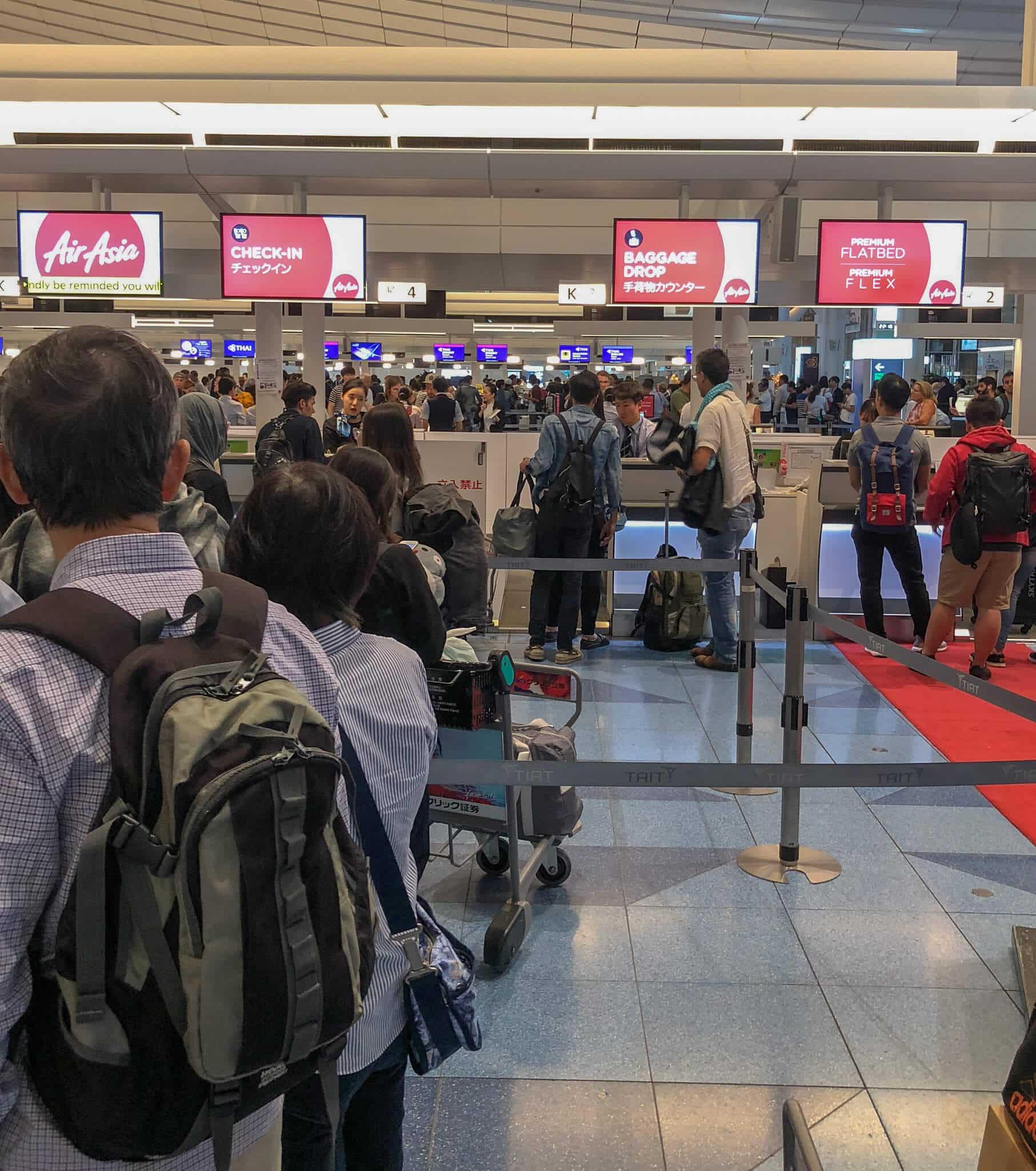 羽田空港からエアアジアを利用するなら! webチェックインは必須!!